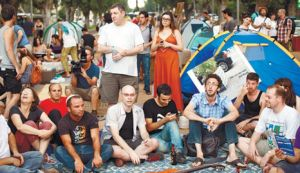 מרחב אוטונומי ארעי שמכניס את הרוח לתוך הפוליטי. מחאת 2011.